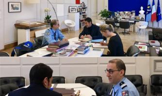 David Lisnard a reçu le nouveau Commandant dugroupement de Gendarmerie départementale des Alpes Maritimes