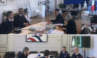 David Lisnard a reçu le nouveau Commandant de la Compagnie des sapeurs-pompiers de Cannes