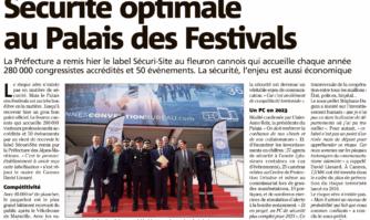 Label Sécuri-Site : une première dans les Alpes-Maritimes avec une sécurité optimale au Palais des Festivals
