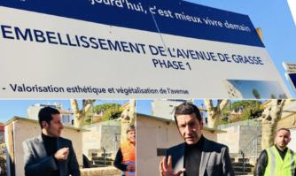 Visite du chantier de la rénovation et de l'embellissement de l'avenue de Grasse