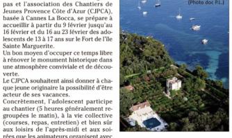 Vacances scolaires : des chantiers pour rénover le fort de l'île Sainte-Marguerite