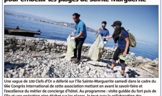 Les Clefs d'Or prennent pinces et sacs poubelles pour embellir les plages de Sainte-Marguerite