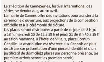 Invitations CANNESERIES