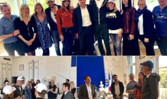 Traditionnelle réception d'une partie de l'équipe de l'émission Ninja Warrior qui est de retour à Cannes pour la 4 ème fois !