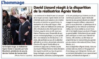 David Lisnard réagit à la disparition de la réalisatrice Agnès Varda