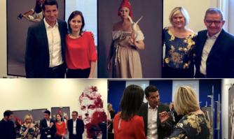 """CANNESERIES : vernissage de l'exposition """"Marianne en série"""" en présence de Vanessa Valence (Profilage) et Lara Menini (Plus belle la vie)"""