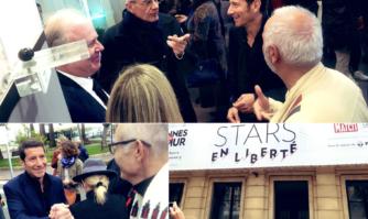 Vernissage de l'exposition « Cannes fait le mûr » en présence de nombreuses personnalités