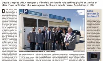 Cannes Parking : +9 % de fréquentation en deux mois