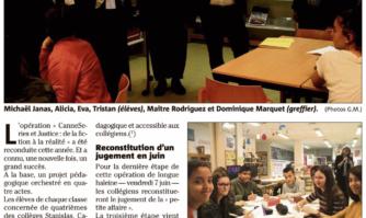 CANNESERIES et Justice : 3e étape au collège Gérard-Philipe