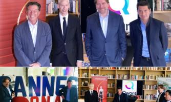 David Lisnard a tenu un point presse conjoint avec M. le Ministre de la Culture et les dirigeants de Qwant