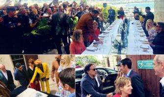 Traditionnel Aïoli du Maire pour faire découvrir les racines et la gastronomie provençales au Jury du Festival de Cannes et aux journalistes du monde entier