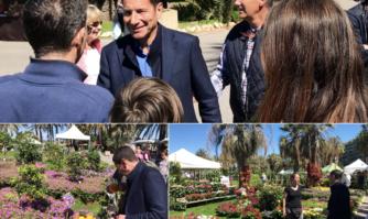 De nombreux cannois étaient présents aux côtés de David Lisnard pour l'ouverture de Flore Passion