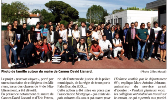 Parcours citoyen enrichissant au collège des Mûriers