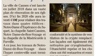 Cannes : un plan églises de 4 millions d'€ jusqu'en 2020