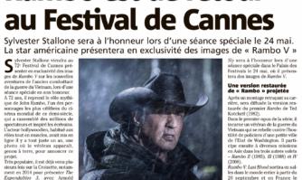 Rambo de retour au Festival de Cannes en chair et en os