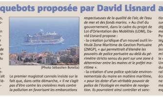 Une Police municipale des paquebots proposée par David Lisnard au Premier ministre