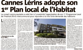 Cannes Lérins adopte son 1er Plan local de l'Habitat