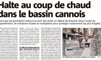 La ville de Cannes a activé son plan canicule