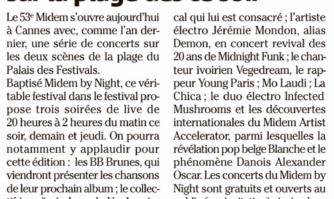 Midem : concerts gratuits sur la plage