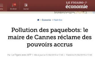 Pollution des paquebots : le Maire de Cannes demande au gouvernement de donner des pouvoirs accrus aux Maires des communes du littoral pour lutter contre la pollution des paquebots en escale