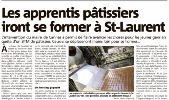 Les apprentis pâtissiers iront se former à St-Laurent