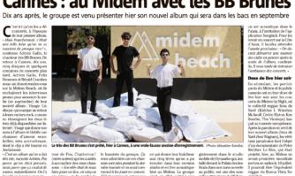Cannes : au Midem avec les BB Brunes