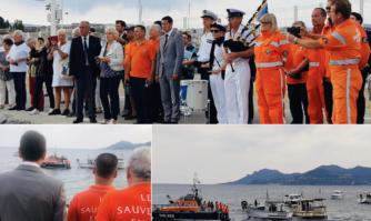 Aux côtés des sauveteurs en mer du bassin de vie cannois pour rendre hommage à leurs trois camarades disparus lors d'une mission de sauvetage en mer.