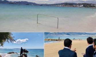 Installation de rampes d'accessibilité sur le littoral Cannois pour entrer et sortir de l'eau sans difficulté