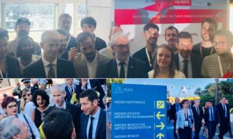 David Lisnard a inauguré le Midem en présence de M. le Ministre de la Culture, Franck Riester et de M. Paul Zilk, Président de Reed Midem