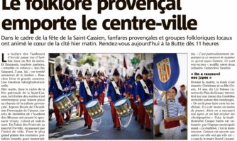 Le folklore provençal emporte le centre-ville