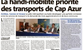 La handi-mobilité priorité des transports de Cap Azur