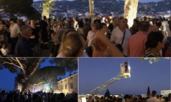 Moment convivial auprès des Pompiers lors du retour du traditionnel bal lançant les festivités du 14 juillet