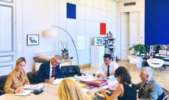 Séance de travail en Mairie de Cannes avec le Recteur de l'Académie de Nice, M. Richard Laganier