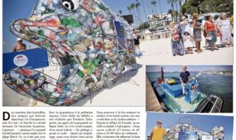 Un poisson pédagogique contre la pollution marine à Cannes