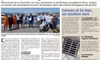 Les ports de Cannes primés pour leur gestion durable.  Voici ce qui est fait pour préserver l'environnement marin !