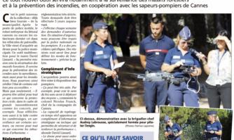 La police municipale s'équipe d'un drone dévoilé lors de la présentation du dispositif de lutte contre les feux de forêts