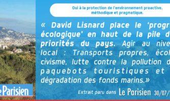 David Lisnard place le 'progrès écologique' en haut de la pile des priorités du pays