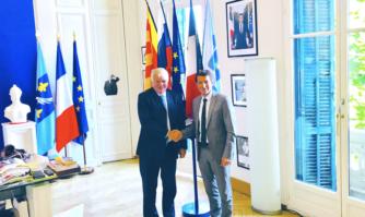 David Lisnard a reçu l'Ambassadeur de la Fédération de Russie