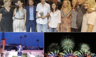 David Lisnard a remis les prix du Festival d'Art Pyrotechnique de Cannes qui a illuminé les soirées d'été cannoises
