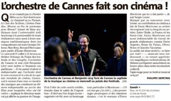 L'orchestre de Cannes fait son cinéma !