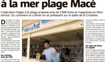 Une bibliothèque face à la mer plage Macé