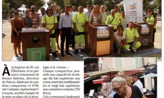 Quatre compacteurs inaugurés rue Félix-Faure