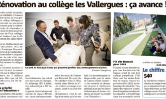 Rénovation au collège les Vallergues : ça avance !