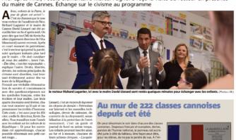 Les élèves de Pagnol reçoivent le nouveau recteur de Nice