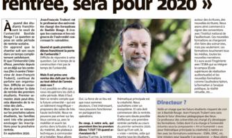 Bastide Rouge : La vraie rentrée, sera pour 2020