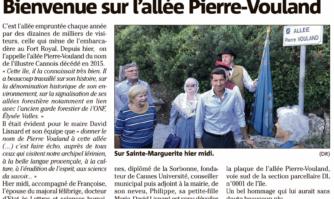 Bienvenue sur l'allée Pierre-Vouland