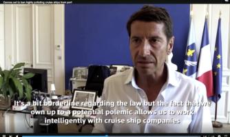 Interview de David Lisnard sur le combat qu'il remporte pour imposer la Charte Croisière qu'il a voulue pour protéger la baie de Cannes
