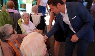 Auprès des personnes âgées de l'EPHAD Seren qui fête ses 30 ans au service des séniors cannois