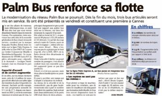 Le réseau Palm Bus renforce sa flotte à Cannes avec trois bus nouvelle génération
