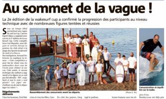 Wakesurf à La Bocca : au sommet de la vague !